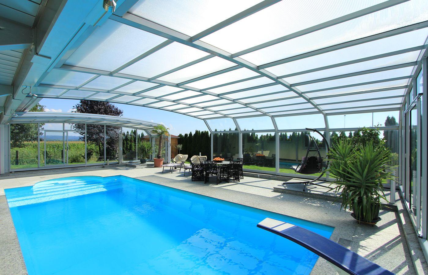 Mural cobertura de piscina alucoberalucober 019 alucober for Coberturas para piscinas