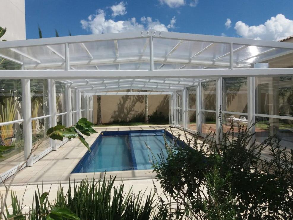 Cobertura retratil de piscina alucober for Cobertura piscina